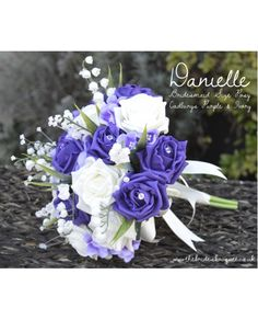 how gorgeous is this cadbury's purple rose bridal posy! with lily of the valley and hydrangea its available in any colour combination (we have almost 50 colours to choose from!!!!)