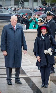 King Harald and Queen Sonja invited all their royal guests to lunch on their family yacht the 'Norge.' Following lunch, they will lunchtime cruise in the Oslo Fjord.