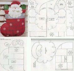 Moldes para hacer portacubiertos navideños en fieltro08