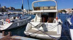 Greece, Rhodes. M/Y Fenia. Princess P45 2002 Fly. Mandraki harbor was the…
