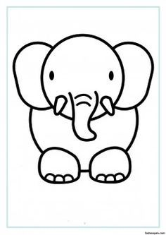 print out animal elephant coloring pages printable coloring pages for kids - Kids Colouring Pages To Print