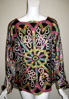 Vintage Emilio Pucci Silk Top Fashion Now, Retro Fashion, Fashion Brands, Fashion Dresses, Vintage Fashion, Vintage Glam, Womens Fashion, Beautiful Outfits, Cool Outfits