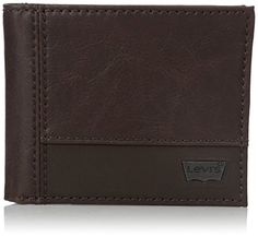 Levis Mens TwoToned Passcase Wallet with Metal Logo PlaqueBrownOne Size ** Read more  at the image link. Note: It's an affiliate link to Amazon