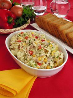 Salada de batata e frango