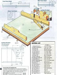 Table Saw Crosscut Jig - Table Saw