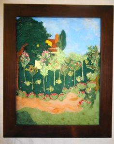 ON SALE: Apple Orchard (needle felt painting)