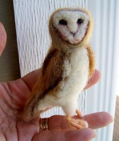 From Sue Sizemore - my latest, a little needle felted wool barn owl named walter : ) on ebay