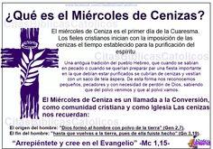 """QUE ES EL MIERCOLES DE CENIZA COMPARTE click en ME GUSTA/ LIKE Visita nuestro Blog http://citasbiblicascatolicos.blogspot.com/p/blog-page.html www.facebook.com/CitasBiblicasCatolicos La raíz de la palabra """"humildad"""" es """"humus"""" (tierra). La ceniza es un signo de humildad,"""