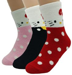 Crazy Cute Warm Fuzzy Cozy Women Teen Girl Kitten Socks Birthday Gifts Cat Paws