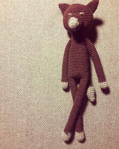 Szydełkowy wilk/crochet wolf made by kulkizfilcu