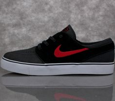 Nike SB Stefan Janoski Low – Anthracite / Black – Uni Red
