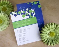 Wedding invitations, polka dots in royal blue, white and lime green.not a bad royal blue option to match the Emerson if I was ambitious enough to change colors. Blue Wedding Invitations, Vintage Wedding Invitations, Diy Invitations, Green Apple Wedding, Our Wedding, Wedding Ideas, Trendy Wedding, 2017 Wedding, Wedding Inspiration