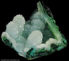Druzy Quartz over Chrysocolla Stalactites - Ray Mine, Scott Mountain area, Arizona, USA