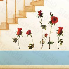 [Dancing Roses] Decorative Wall Stickers Appliques Decals Wall Decor Home Decor by Hemu Wall Sticker. $8.89. Size: (W)23.6 inches x (H)35.9 inches; Color: Mixed (You could see the color in the images).. 100% brand new, quality & a good design; Be made of waterproof and durable vinyl.. Simple & easy to make the wall a masterpiece with Blancho Bedding wall stickers decals.. Decorate baby and kids nursery, interior walls or windows of home, bathroom, office, dorm, or store.. Easy ...