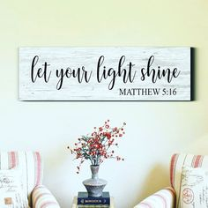 This little light of mine, I'm gonna let it shine! This rustic wood scripture sign will give your living space that farmhouse charm with… Reclaimed Wood Signs, Diy Wood Signs, Rustic Wood Signs, Wall Signs, Scripture Signs, Scripture Wall Art, Rustic Wood Crafts, Wooden Diy, Christian Signs