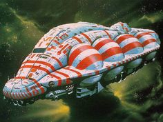 A pirate ship slices through space in concept art from the lost Dune movie of the Artist Chris Foss crafted covers for some of science fiction& greatest books, reshaping how we see spaceships and robots. Check out our gallery. Michael Johnson, Space Fantasy, Sci Fi Fantasy, Jodorowsky's Dune, Dune Film, Cyberpunk, Art Science Fiction, Science Space, Pulp Fiction