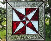 RESERVED FOR MORGAN      Stained Glass Panel- Scrap Heart Quilt Block-Multi Color. $45.00, via Etsy.