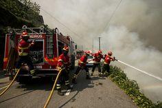 300 bombeiros combatem as chamas em Arouca