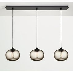 Room & Board - Sky Pendants with Rectangle Ceiling Plate - Set of Three