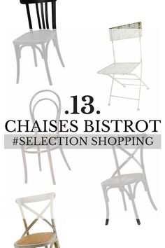 Chaise Bistrot : 13 Modèles Pour Une Ambiance Bistrot ! Chair, Furniture, Home Decor, Salon Chairs, Dinner Room, Woodwind Instrument, Home, Decoration Home, Room Decor