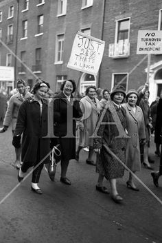 Housewives march in protest at the introduction of Turnover Tax, a new sales tax. In Cold Blood, Irish Eyes, Sales Tax, History Photos, Photo Archive, More Photos, Ireland, March, Fine Art