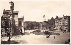 Dworzec Główny i plac przed dworcem.Rok 1939