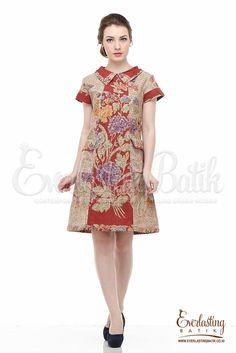 Fabric : Handmade batik stamp pekalongan Batik Blazer, Blouse Batik, Model Dress Batik, Batik Dress, Batik Kebaya, Kebaya Dress, Simple Dresses, Pretty Dresses, Casual Dresses