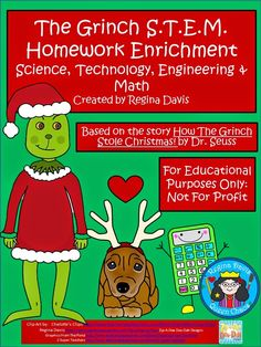 Robitaille - Free: Grinch S. (science, technology, engineering, math) based on How The Grinch Stole Christmas by Dr. For Educational Purposes Only.Not For Profit. Regina Davis at Fairy Tales And Fiction By Christmas Activities, Science Activities, Classroom Activities, Christmas Games, Classroom Ideas, Christmas Decorations, Stem Science, Teaching Science, Teaching Ideas