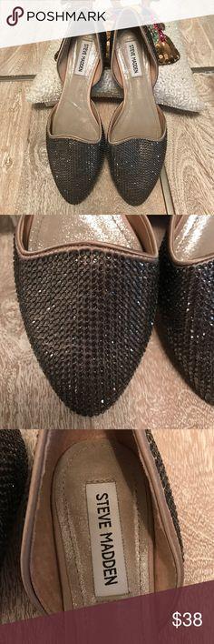 Steve Maden Swarovski Crystal Flats Like new!! Used once!! Steve Madden Shoes Flats & Loafers