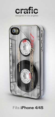 Vintage Cassette Tape iPhone 4/4S Case by CRAFIC, $17.99