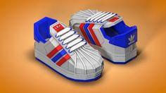 adidas superstar low-poly