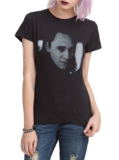 Loki Girls T-Shirt (Hot Topic) - Cause we all know Loki is the hottest villian ever right now!