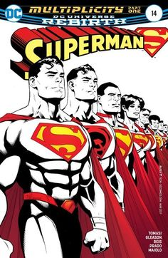 """Superman n°14 (04.01.2017) // """"MULTIPLICITY"""" part one! The New Super-Man of China has been taken! The Red Son Superman of Earth-30 has been beaten! And who knows what's happened to Sunshine Superman! Someone is collecting Supermen across the Multiverse—this looks like a job for our Kal-El as he is joined by Justice Incarnate in this multi-Earth epic!  #superman #dc #universe #rebirth #comics"""