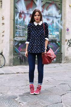 Look geox | scarpe geox per valemour | scarpe geox | La postina bag | borsa rossa | irene colzi