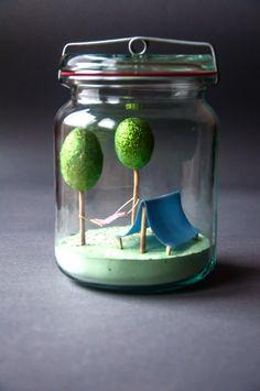 jar, handmade, tent
