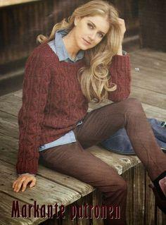 Vintage+knitting+free+patterns,+gratis+breipatronen+onder+andere+jaren+70+patronen:+Prachtige+damestrui+met+kabels,+project+voor+de+ge...