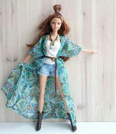 Barbie in turquoise and denim