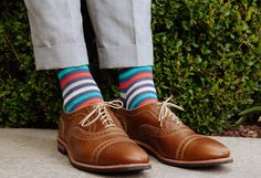 Dapper Classics - Made in USA Socks and Trousers Sock Shoes, Men's Shoes, Colorful Socks, Designer Socks, Happy Socks, Dress Socks, Fine Men, Men Style Tips, Well Dressed Men