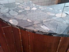 This is actually marble on the raw bar, pretty cool