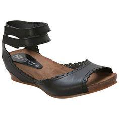 a2b6cfec40bb19 Black Miz Mooz Women s Bridget Wedge Sandal shoes Miz Mooz Shoes