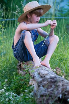 Young Boy Wearing Blue Overalls Sitting On Fallen Tree Photograph by Sitting Pose Reference, Human Poses Reference, Pose Reference Photo, Hand Reference, Figure Reference, Cool Poses, Kid Poses, Drawing People Faces, Figure Drawing Models