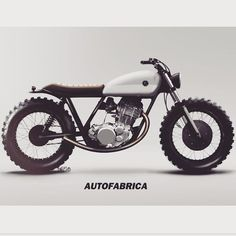 """Preliminary colour and trim study on the upcoming Type 7C #autofabrica #caferacer #scrambler #industrialdesign #concept"""