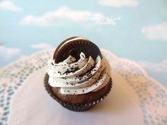 Oreo Cupcake Fake cupcakes, Fake cookies, Fake donuts, Fake candy Fake Dessert Props, and hand painted home decor
