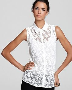 Aqua Blouse - Daisy Embroidered | Bloomingdale's