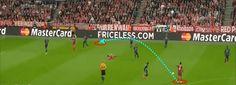 Gol ke-tiga Bayern merupakan gol terbaik dalam pertandingan ini. Philip Lahm lakukan umpan silang pada Muller, untuk kemudian flick on pada Lewandowski, yang langsung disundul oleh Lewandowski sendiri. Kombinasi 1 sentuhan yang cepat. Tapi, sebelum Lahm menyisir sisi kiri Porto, adalah Thiago yang ciptakan inisiatif serangan. Ia yang berikan umpan satu sentuhan pada Lahm.