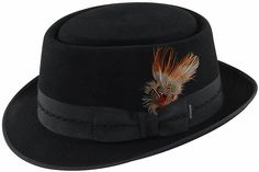 I want these! Stetson Leather Fur Pork Pie Hat (TF2209) Pork Pie Hat, Stylish Hats, Hats For Men, Caps Hats, Gentleman, Footwear, Fur, Mens Fashion, Leather