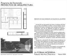 Casa Patio (25x25) para el Doctorado La Forma Moderna