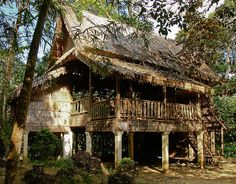 Traditional style House near Luang Prabang, Laos