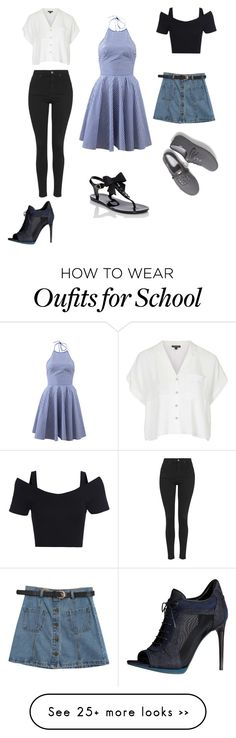 """60s is back to school"" by alondraiglesias on Polyvore featuring Michael Kors, Chicnova Fashion, Keds, Topshop, Burberry and Kate Spade"