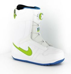 Nike Snowboarding Vapen Boa Snowboard Boots 2015 - white fierce green photo  blue - ab379619b